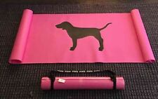 Victorias Secret PINK Yoga Mat Gym Sport Exercise Dog Logo Mat with Strap Pink