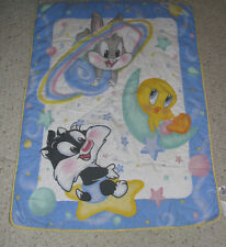 BABY LOONEY TUNES OUTER SPACE NEIGHBORS BUGS TWEETY SYLVESTER BLANKET QUILT