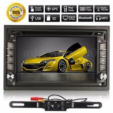 GPS Navigation 2DIN 1080P HD Car Stereo DVD Player Bluetooth MP3 TV SD+Camera