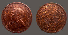 South Africa 1898 Penny, CH UNC, Scarce, Sharp Detail #200