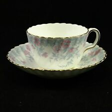 Minton Garden Pinks Gold Trim S575 Made in England-  Cup and Saucer