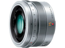 PANASONIC LEICA DG SUMMILUX 15mm F1.7 ASPH LENS H-X015 SILVER JAPAN DOMESTIC JDM