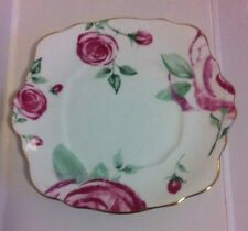 Rare Royal Albert Rose Clouds Bread and Butter  / Cake Plate - New
