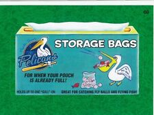 2016 TOPPS WACKY PACKAGES MLB - MYRTLE BEACH PELICANS STORAGE BAGS GREEN GRASS!