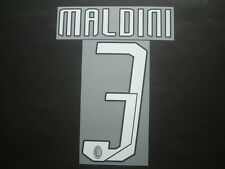 MALDINI NOME+NUMERO UFFICIALE MILAN HOME 2007-2008 OFFICIAL NAMESET