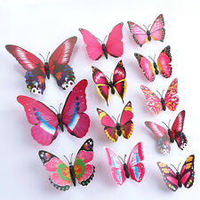 3D DIY Butterfly Wall Sticker Butterfly Home Decor Room Stickers 12Pc/Set Mix G