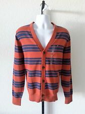 Authentic NWT Tommy Hilfiger V-neck Men's Striped Button Down Cardigan