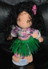 Precious Moments Applause Hawaiian Hula Girl Doll w/ Stand 1989 Vintage Dolls