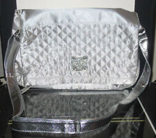 Serious Skin Care Silver Metallic Tote Shopper Hand Bag New