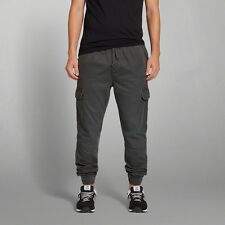 Abercrombie & Fitch Grey Men Cargo Jogger Sweat Pants Chinos Large A&F NWT