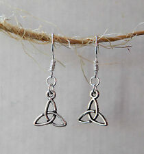 Silver Triquetra Celtic Design Earrings By Slave Violet Jewelry