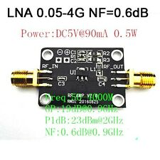 DC5V Low Noise LNA 0.05-4G NF=0.6dB RF amplifier FOR FM HF VHF / UHF Ham Radio