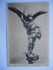 """CPA """"Abbaye du Mont Saint Michel - Statue de Saint Michel par Frémiet"""""""
