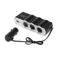 1 to 3 Port Way Car Cigarette Lighter Power Socket Splitter Charger Adapter USB