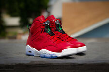 2014 Nike Air Jordan 6 VI Retro Spizike SZ 10.5 Red History of Green 694091-625