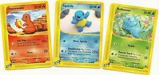 CHARMANDER #97 BULBASAUR #94 SQUIRTLE #131 - 3 EXPEDITION POKEMON CARDS- MINT