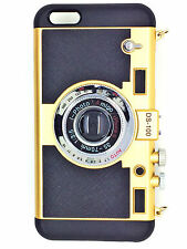 2x1 FUNDA CARCASA MOVIL CAMARA DS-100 + FUNDA ANTIGOLPE IPHONE 6/6S DORADO