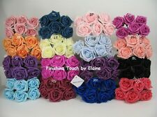 8 bunches =48  5 cm  Artifical Foam roses MIX N MATCH YOUR COLOURS  bridal