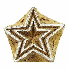 Star Indian Wood Block Art Handcarved Printing Block Textile Stamp PB2615A