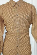 Lacoste Brown Check 100% Cotton Dress / Casual Shirt 42) XL FE7