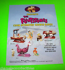 The FLINTSTONES Just Kiddie Rides 1994 Original Promo Flyer FRED DINO BARNEY