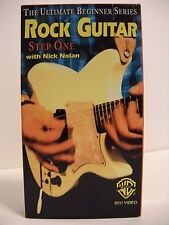 Rock Guitar Step One with Nick Nolan VHS 1995 The Ultimate Beginner Series Video