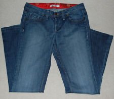 "Fortune Jeans ""Renee"" w/ Satin Trimmed Waistband & Button w/ Swarovski crystals"