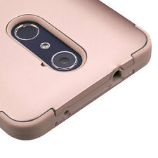 ZTE ZMAX PRO Z981 / GRAND X MAX 2 - Hybrid High Impact Armor Skin Case Rose Gold