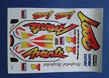AVANTE 2001 CUSTOM TAMIYA HPI LOSI VINTAGE PRECUT DECALS STICKERS 1/10th RC CARS