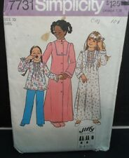 1976 Vintage Girls Robe Nightgown & Pajama Pattern Size 10 UNCUT FF