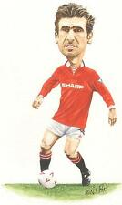 ERIC CANTONA,PFA PLAYER OF THE YEAR 1993/94 ORIGINAL WATERCOLOUR