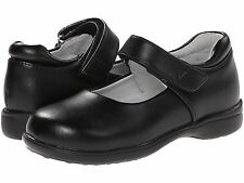 Black LEATHER MaryJanes School Shoes Jumping Jacks   Girls Size  1 1/2  Wide