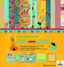"""BEST CREATION """"LOOPS AND SCOOPS"""" 12X12 PAPER  AMUSEMENT PARKS SCRAPJACK'S PLACE"""