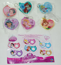 Disney Princess Mirror Charms Collection 1 Complete Set of 6 HTF RARE