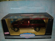 1/18 SCALE 1997 FORD F-150 XLT IN METALLIC BURGUNDY BY ERTL AMERICAN MUSCLE .