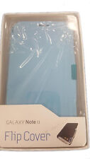Samsung Galaxy Note 2 Protective Flip Cover Case Generic Light Blue Replacement