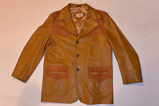 MEN'S VINTAGE 1970s GRAIS WESTERN STYLE LEATHER JACKET! SUEDE YOKE & POCKETS! 44