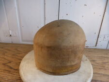 Antique wooden mannequin head hat block
