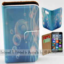 Wallet Phone Case Flip Cover ONLY for Nokia Lumia 640 - Floating Bubbles