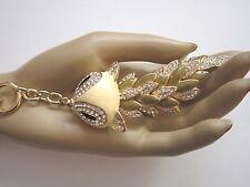 STRASS Schlüsselanhänger Taschenanhänger Emaille Kristall Asia Drache Gold