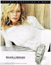 PUBLICITE ADVERTISING 095  2007  BAUME & MERCIER avec KIM BASINGER  montre diama