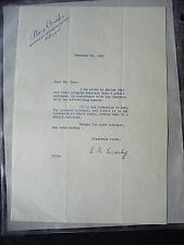 Original Bing Crosby NBC Hollywood letter Signed E. N. Crosby Christmas Eve 1938