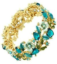 Turquoise Multi Colored Flower Bangle