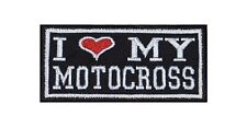 I Love my Motocross Biker Heavy Rocker Patch Aufnäher Kutte Motorrad Stick Badge