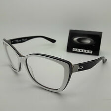 NEW OAKLEY NEWS FLASH Rx Frames Gloss Black White Face 2025-04 AUTHENTIC
