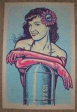 BETTY PAGE Blue Variant silkscreen art poster print LARS P KRAUSE