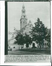 1940 Louvain's Famous University Library in Belgium Original Wirephoto
