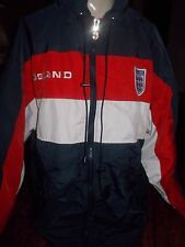 ENGLAND MENS SAILING, WINDBREAKER, ADMIRAL JACKET SIZE M W/HIDDEN HOOD