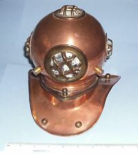 ideal gift small ornamental copper divers helmet decorative display attractive
