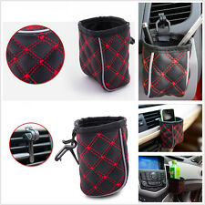 Car Air Vent Outlet Mount Multifunction Storage Organizer Phone Drink Pouch wf